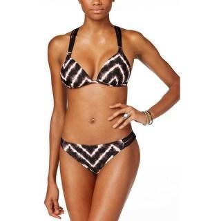 Hula Honey Womens Eletric Tie Dyed Print Two Piece Set Swimsuit X-Large Black
