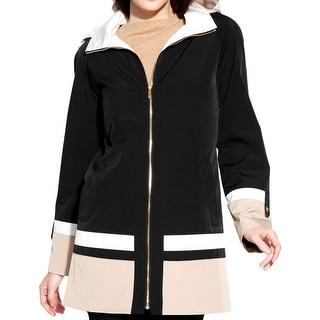 Jones New York Womens Anorak Jacket Water Resistant Hooded - s