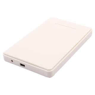 Notebook USB 2.0 Hard Drive Disk Plastic Enclosure 2.5 Inch Sata HDD Case White