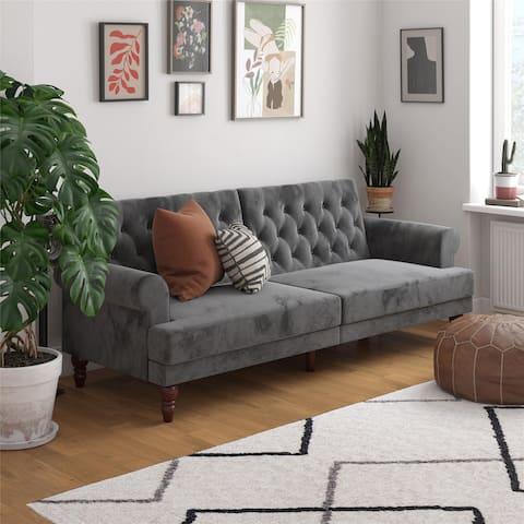 Novogratz Upholstered Cassidy Futon Convertible Couch