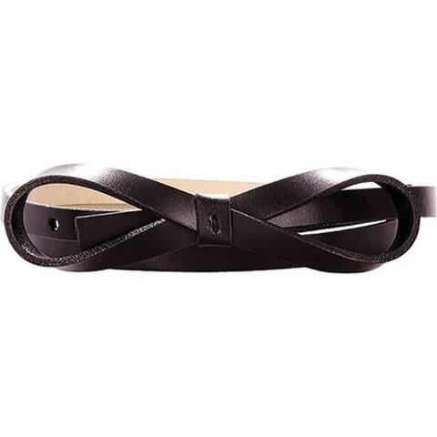 Lodis Women's Audrey Skinny Bow High Waist Belt Black
