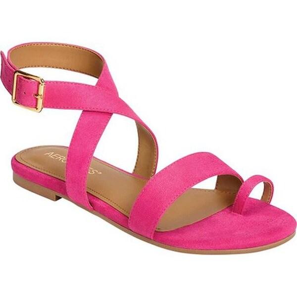 7571b2223cb Shop Aerosoles Women's Shortener Toe Loop Ankle Strap Sandal Pink ...