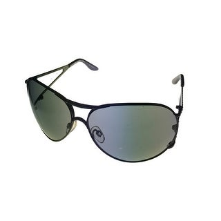 Esprit Womens Sunglass 19262 538 Black Metal Avaitor, Smoke Gradient Lens - Medium