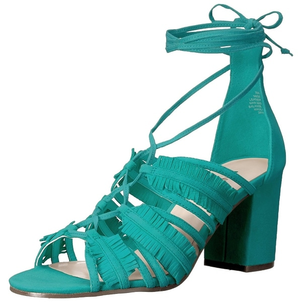 Nine West Womens Genie Leather Open Toe Casual Strappy Sandals