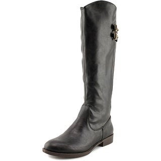 Fergalicious Lullaby Round Toe Leather Knee High Boot