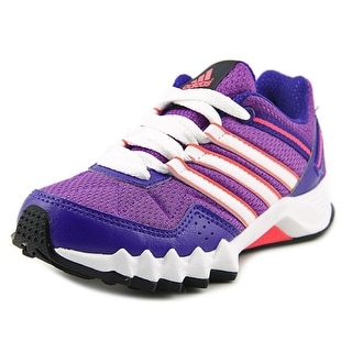 Adidas adifaito k Youth Round Toe Synthetic Purple Running Shoe