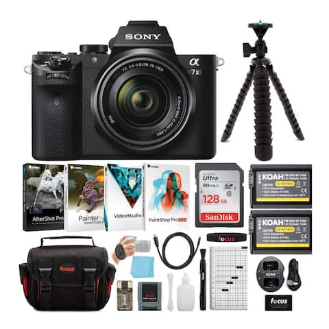 Sony Alpha a7II Mirrorless Camera with 28-70mm Lens & Accessory Bundle