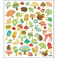 Woodland Animals & Mushrooms - Multicolored Stickers