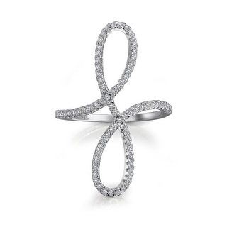 Link to Boho Pave CZ Full Finger Armor Swirl Infinity Ring 925 Sterling Silver Similar Items in Rings