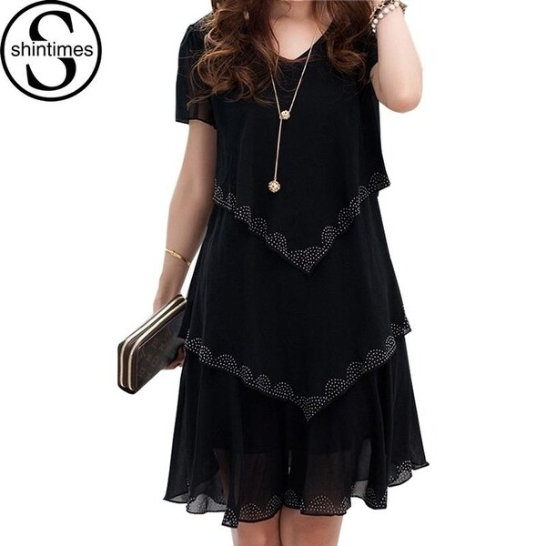 Dresses Clothing 2018 Women Shop Dress Plus 5xl Size Summer Chiffon wnO0Pk