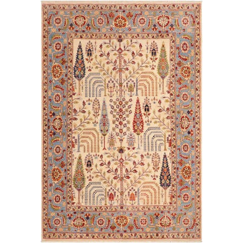 "Bohemien Ziegler Virgilio Hand Knotted Area Rug -7'11"" x 9'11"" - 7 ft. 11 in. X 9 ft. 11 in."