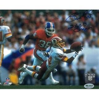 Gary Clark Autographed Washington Redskins 8x10 Photo vs Broncos Blue SGC