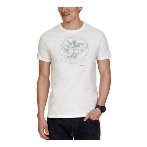 Nautica Mens Nautical Map Graphic T-Shirt