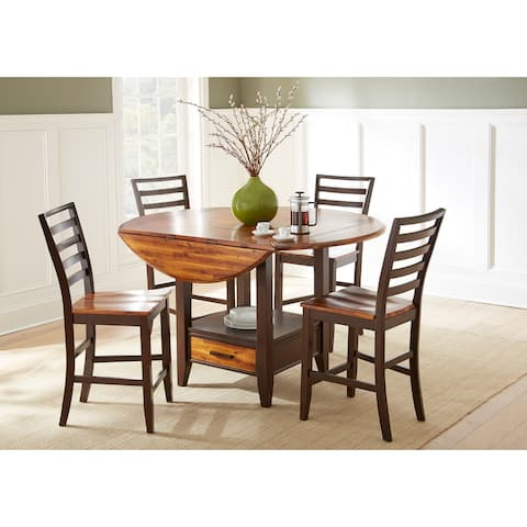 Copper Grove Warkworth Acacia 5-piece Counter Height Dining Set