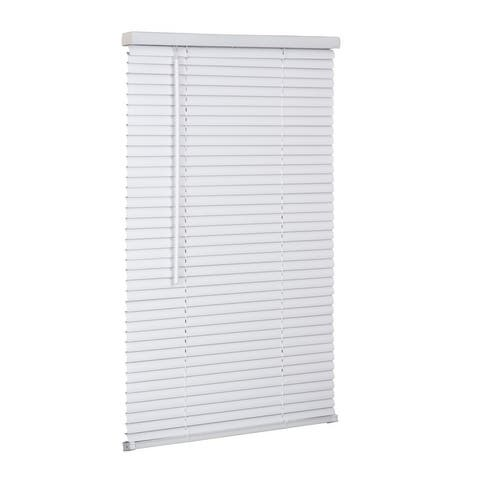 "1"" Cordless Vinyl Mini Blind - White"