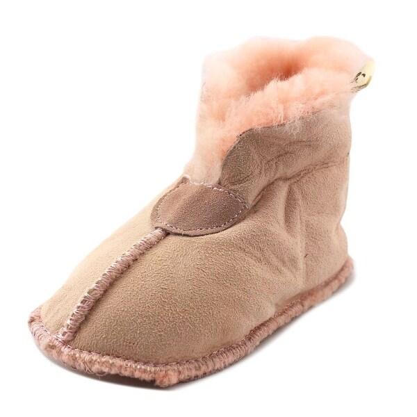 Bearpaw Hemlock Infant Round Toe Suede Pink Bootie