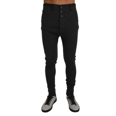 Gray Cashmere Stretch Winter Thermal Men's Bottoms