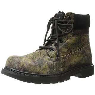 Caterpillar Mens Colorado Leather Lace-Up Work Boots - 10.5 medium (d)