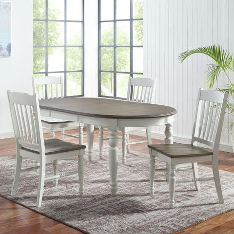 The Gray Barn Gustine Two-tone Farmhouse 5-Piece Dining Set