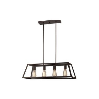 "Canarm ICH480A0430 Flynn 4 Light 30"" Wide Linear Chandelier - Oil Rubbed bronze"
