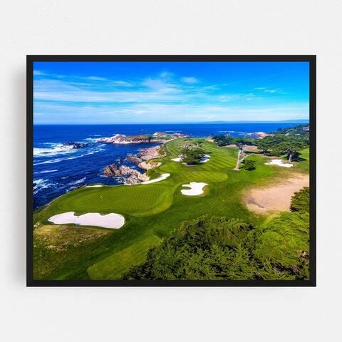 Pebble Beach California Beach Golf Framed Wall Art Print