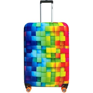 Smiley 30 Inch Rolling 3D Rainbow Luggage