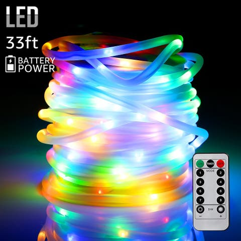 33ft 100LEDs Starry String Lights, Waterproof, Blue/Yellow/White/RGB Color Changeable