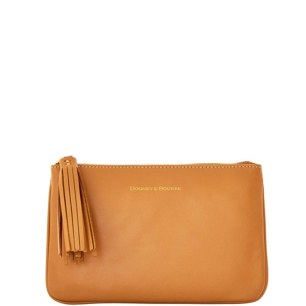Dooney & Bourke Lambskin Carrington Pouch (Introduced by Dooney & Bourke at $88 in Aug 2016) - Caramel