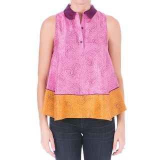 Elizabeth and James Womens Aura Casual Top Silk Paisley