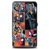 Marvel Universe Spider Man & Black Cat Scene Blocks Hinged Wallet - One Size Fits most
