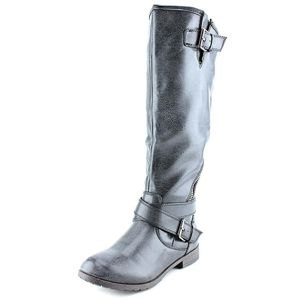 Material Girl Ludlow Wide Calf Faux Leather Knee High Boot