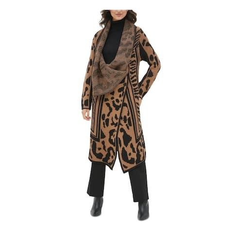 CALVIN KLEIN Brown Long Sleeve Sweater XL