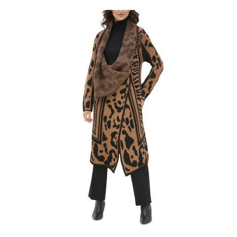 CALVIN KLEIN Brown Long Sleeve Sweater XS