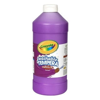 Crayola Artista II Non-Toxic Washable Tempera Paint, 1 qt Squeeze Bottle, Violet