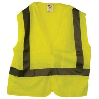 Ch Hanson 55180 Safety Traffic Vest, Green, Silver