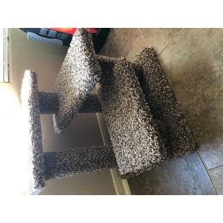 """Crazy Pet Steps Carpet and Wood 21-inch Cat Climber - 21"""""""