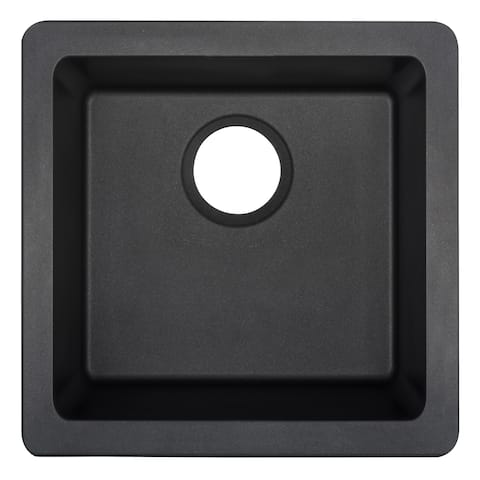 "Mirabelle MIRGR1B1616 Totten 16.5"" Square Composite Dual Mount Bathroom Sink"