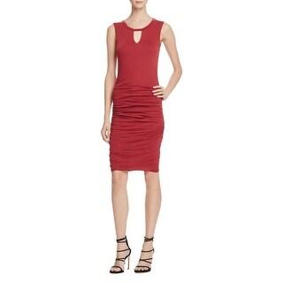 Velvet Womens Casual Dress Solid Sleeveless - m