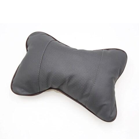 Car Auto Seat Head Neck Rest Cushion Pad Travel Headrest Bone Type Pillow Gray