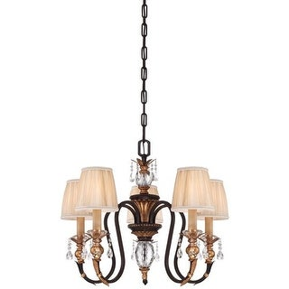 Metropolitan N6645-258B 5 Light 1 Tier Candle Style Crystal Chandelier from the Bella Cristallo Collection