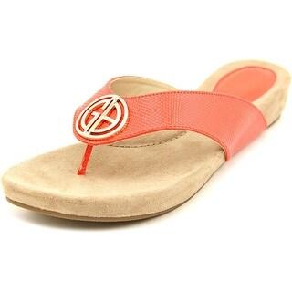 Giani Bernini Racchel Women Open Toe Synthetic Orange Thong Sandal