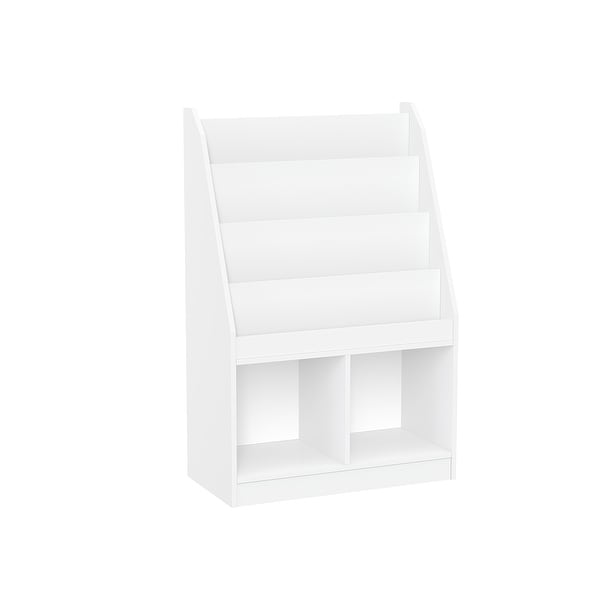 RiverRidge Home Kids Bookrack with Two Cubbies, White. Opens flyout.
