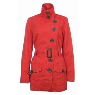 Sutton Studio Womens Lightweight Twill Cotton Trench Jacket