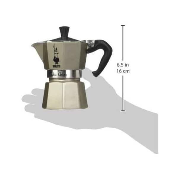 4 Cups Stainless Steel Moka Pot Stovetop Espresso Coffee Maker with Safety Valve Moka Pot
