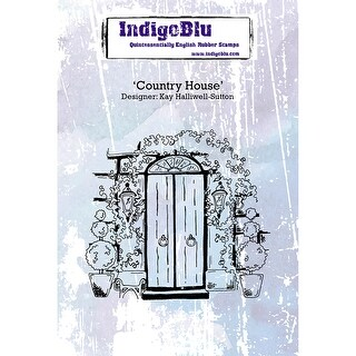 "Indigoblu Cling Mounted Stamp 5""X4""-Country House"