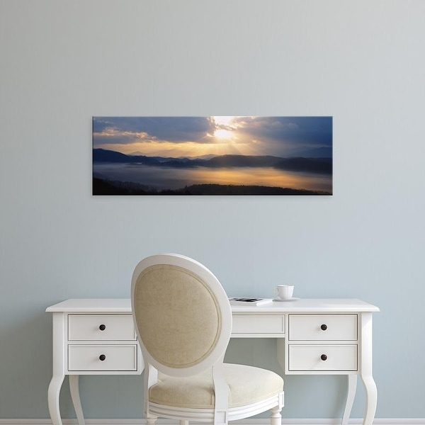 Easy Art Prints Panoramic Images's 'Mountains at sunrise, Great Smoky Mountains National Park, Tennessee' Canvas Art
