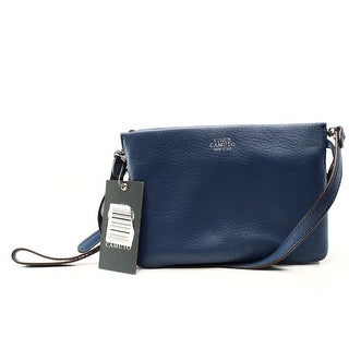Vince Camuto NEW Blue Leather Jean Cami Zip Top Crossbody Bag Purse