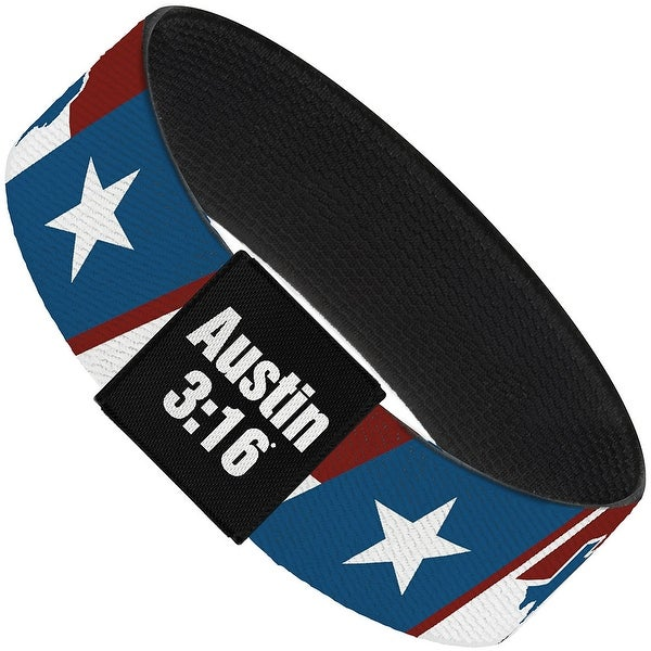 Stone Cold Steve Austin Texas Star Blocks White Red Blue Elastic Bracelet