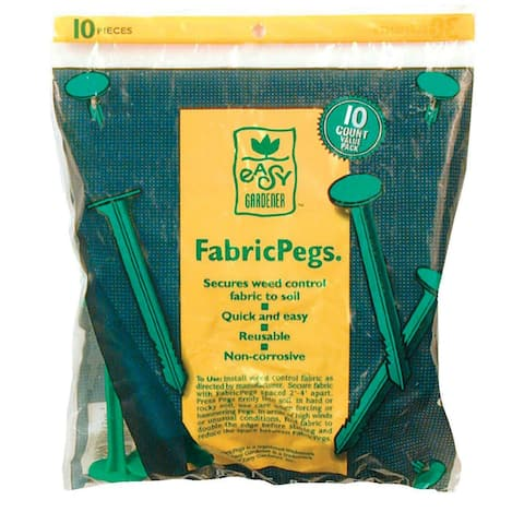 Easy Gardener 801 UV Resistant Polymer FabricPegs, 10 Counts