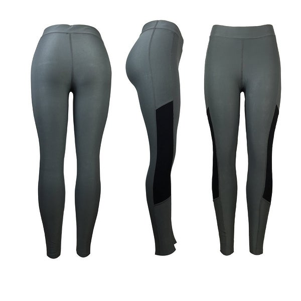 b29f40240b796 Shop Women's Athletic Fitness Sports Yoga Pants Large/X-Large-Grey ...